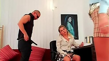 Hot bdsm festish with naughty mistress spanking her serf hard