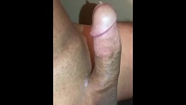 My husbands beautiful hard cock, hands free cum
