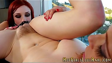 Anal redhead toys ass