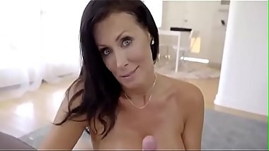 Drunk housewife has sex with her shy stepson