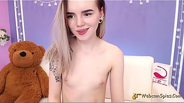 Innocent Amateur Barely Legal Girl Lovense Strip 1635C26356F-1012C - HD WebcamSpies.Com