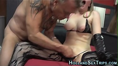 Whore banged by old dude