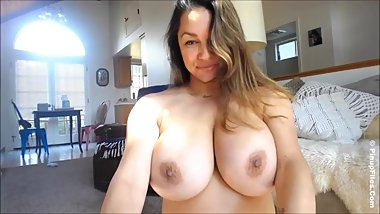 Monica Mendez birthday show with her giant tits in focus webcam