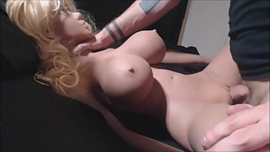 BIG TITS SHAKE WHILE TPE SEX DOLL GETS FUCKED!