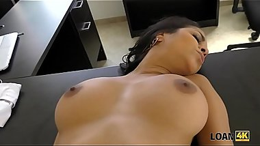 LOAN4K. Beautiful Latina agrees for sex for cash with loan agent