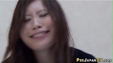 Fetish asian pees through panties