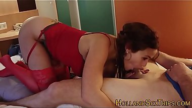 Dutch whore gets oral