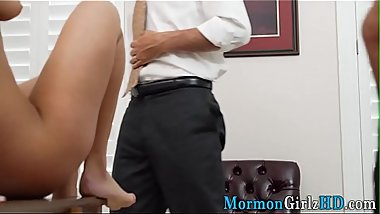Amateur mormon spunked on