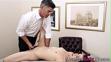 Teen mormon muff spermed