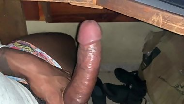 I Made Him Jerk Off His Big Black Cock Cumming On His Pac Man Undies - Solo