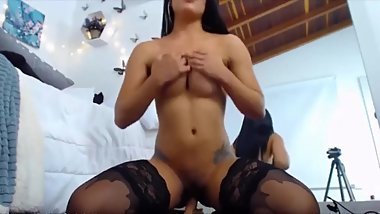 housewiveshd-Busty Colombian girl riding on toy