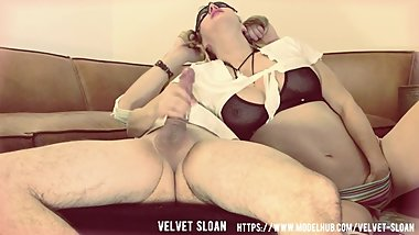 Velvet Sloan...Schoolgirl Deepthroats Gets Ass Fucked and Anal Creampied