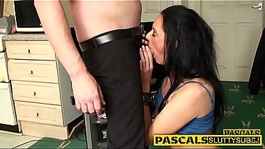 Bdsm whore deep throating