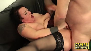 Throating milf sub banged