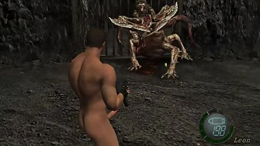 Resident Evil 4 Steam ver Nude Chris replace Leon Mod support to cutscenes