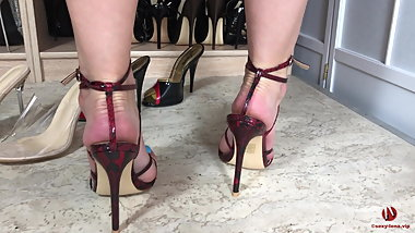 Sexy High Heels Sandals And Hot Feet