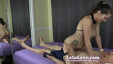 Lelu Love-Fishnet Bodystocking BJ Riding Cowgirl And Reverse