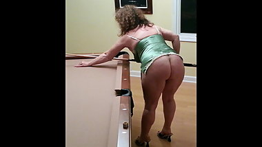 My MILF Wife as pool player and cocksucker