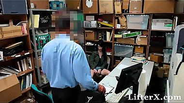 Petite Cutie Stripped And Fucked By Security Officer - Lifterx.com