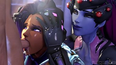 3D ANIMATED UNCENCORED OVERWATCH SOMBRA COMPILATION (HD W/SOUND)