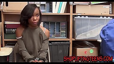 Black teen thief fucked