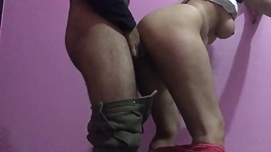 Stepsister anal fucked from behind painful sex with policeman