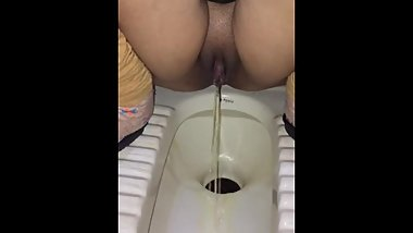 Hot Indian College Girl Pissing In Public Toilet