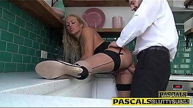 Hot submissive sucking