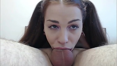Delightful Teen Gives Amazing Deepthroat Blowjob Ever