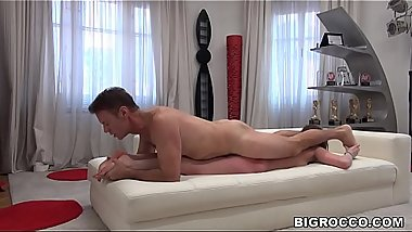 Russian slut'_s gaping asshole was fucked by Rocco