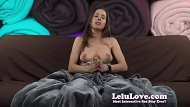 Lelu Love-Soft Pants Fluffy Blanket JOI Demo