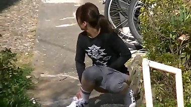 Japanese Girl Pissing In Street