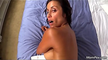 MomPov Big Tit Fit Girl Latina MILF Sloppy Blowjob Makes A Cum Covered Face