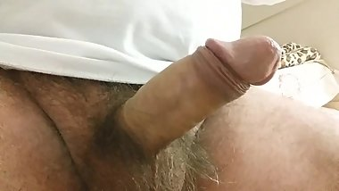 Daddy Masturbating until Cumshot to Sleep