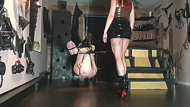 Mistress no.1 - Suspended slave abuse