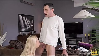 DADDY4K. Dad and young girl enjoy anal sex near his sleeping son