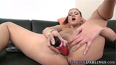 Babes gaping butt fucked