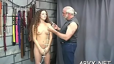In nature'_s garb doll amazing fetish bondage sex scenes with old man