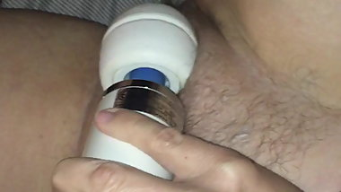 Hitachi and playing with my pussy