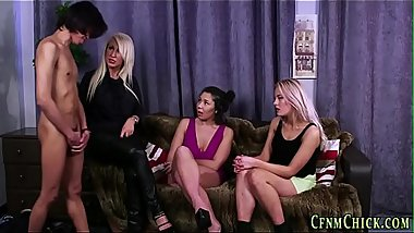 Cfnm brit babes dominate